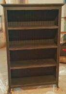 Distressed Black Bookcase