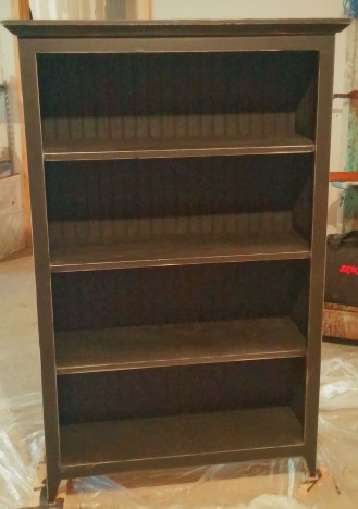 Distressed Black Bookcase